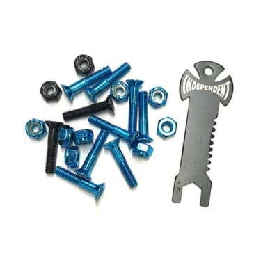 Indy Bolts Phillips (Pk 10 with Tool) Blue/Black 1 IN