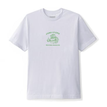 June - Hole Food Specialist Mens Tee - Pewter, Green
