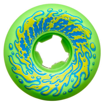Santa Cruz Double Take Vomit Mini Wheels 97a Slime Balls Green 53mm
