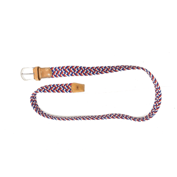 Girl Skateboards Buffet Belt Red White Blue Braided