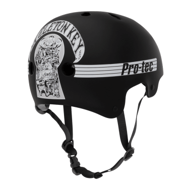Protec - Old School Skeleton Key Black/White Helmet