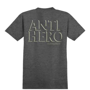 Antihero Drophero Pocket T-Shirt - Charcoal Heather / Cream