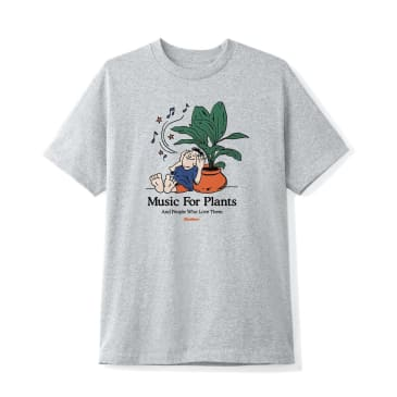 Butter Goods Music For Plants T-Shirt - Heather Grey