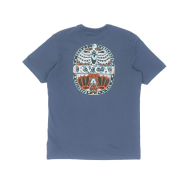 RVCA Opposites T-Shirt - China Blue