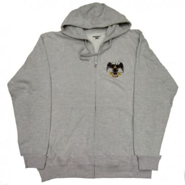 Theories Of Atlantis Hands Of Theories Zip Up Hoodie - Heather Grey