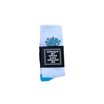always do what you should do - white / blue @sun sock
