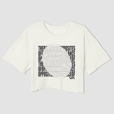 Rvca Womens Block Out Cropped T-Shirt