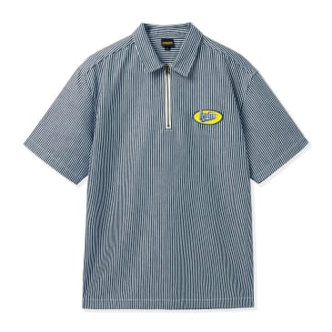 Butter Goods Short Sleeve Work Shirt - Hickory Stripe