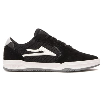 Lakai Atlantic Suede Skate Shoes - Black / Light Grey