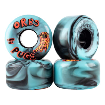 Welcome Skateboards - 54mm Orbs Pug Soft Wheels (85A) - Black / Blue