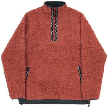 Butter Goods Glacier Sherpa 1/4 Zip - Rust
