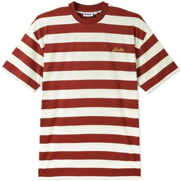 Butter Goods Grove Stripe T-Shirt - Rust