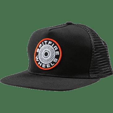 Spitfire Classic 87 Swirl Mesh Snapback Hat Black