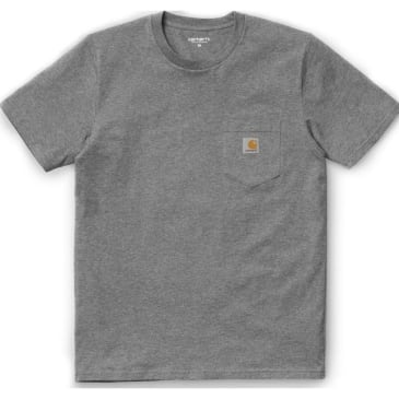 Carhartt WIP Pocket T-Shirt - Dark Grey Heather