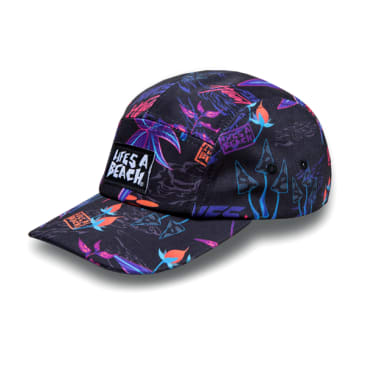 "Life's a Beach x Need of Speed ""Psyche Tropic"" 5 panel Cap"