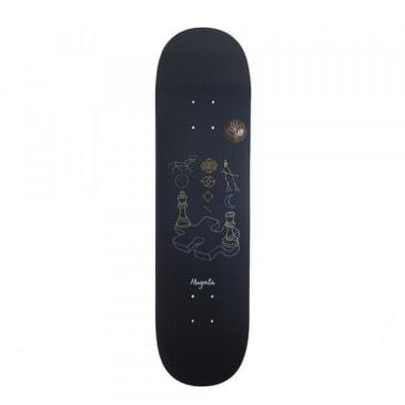 "Magenta Enigma Skateboard Deck - 8.6"""