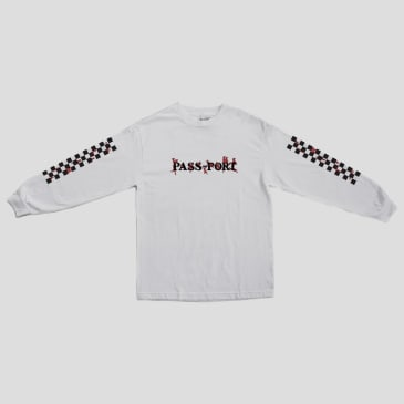 "PASS~PORT - ""CONSCIENCE LONG SLEEVE T- SHIRT"" (WHITE)"