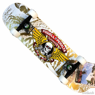 Powell Peralta Winged Ripper 7 White Complete Mini