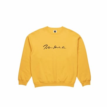 Polar Skate Co Signature Crewneck - Yellow