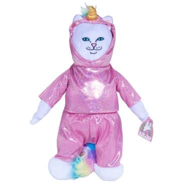 Rip N Dip Unicorn Nermal Plush Doll - Pink/White