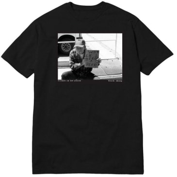 Black Sheep Friends in Low Places Tee Black - White
