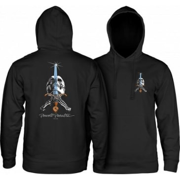 Powell Peralta Skull & Sword Midweight Hooded Sweatshirt (Black)
