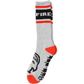 Spitfire OG Classic Crew Socks - Heather Grey/Black/Red