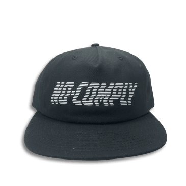 No-Comply Wavy Strap Back Black