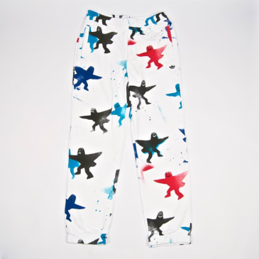 Adidas Skateboarding - Shmoo Sweatpants - White / Black / Scarlet / Blue