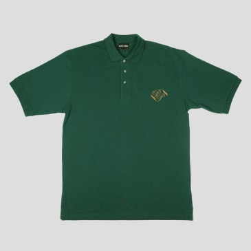 """PASS~PORT """"BANNER"""" EMBROIDERED POLO GREEN GLEN"""