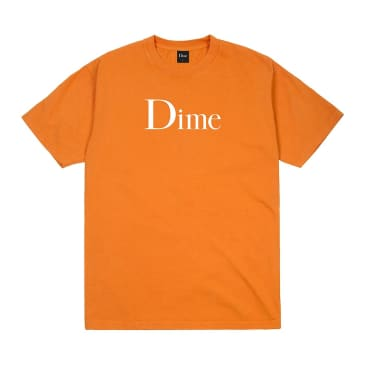 Dime Classic Logo T-Shirt - Bright Orange