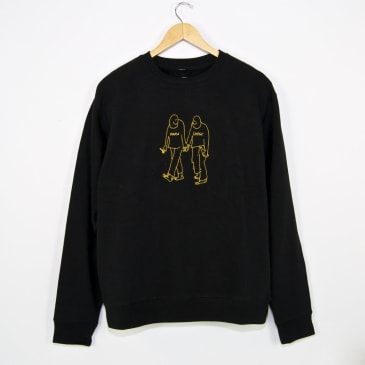 Paradise NYC - Gonz Soulmates Embroidered Crewneck Sweatshirt - Black / Gold