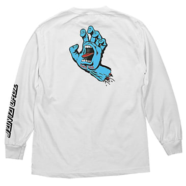 SANTA CRUZ Screaming Hand Longsleeve White