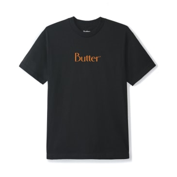 Butter Goods Speckle Classic Logo T-Shirt - Black