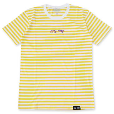 Fifty Fifty Striped T-Shirt Peach/White