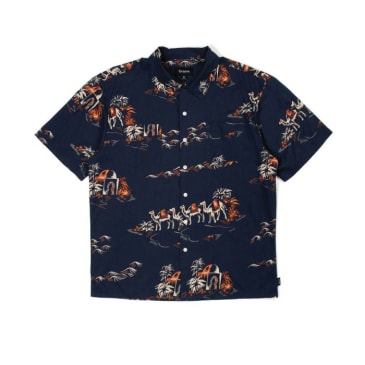 Brixton Cruze Standard S/S Woven Shirt Washed Navy