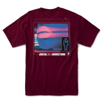 PRIMITIVE Connections Tee Burgundy