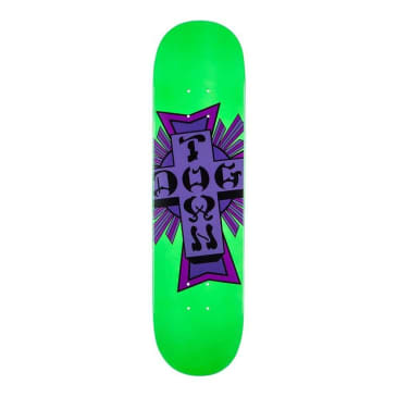 Dogtown Street Cross Logo Skateboard Deck Green/Purple - 7.75
