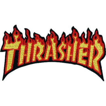 "Thrasher - Flame Logo Patch 2.4""x4.5"""