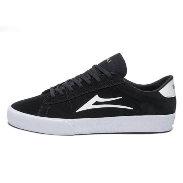 Lakai Newport Shoes - Black/White Suede