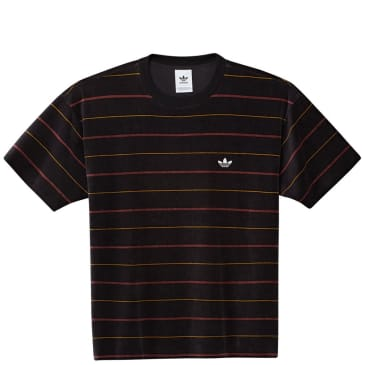 adidas Velour Jersey T-Shirt - Black / Legacy Red / Legacy Gold / Off White