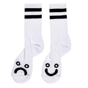 Polar Skate Co. Happy Sad Socks White