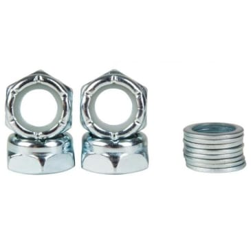 Truck Axle Nut & Washer Replacement (Full Set) Silver