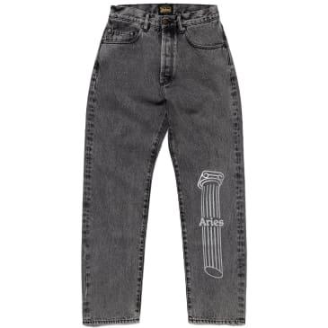 Aries Acid Wash Batten Jeans - Grey