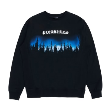 Pleasures Forest Premium Crewneck Sweater (Black)