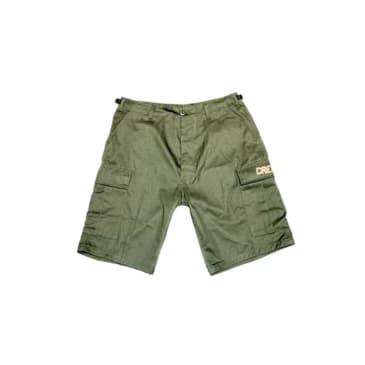 Cream Digital Cargo Shorts (Olive)