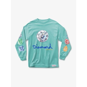 Diamond Splash Sign L/S Tee (Diamond Blue)