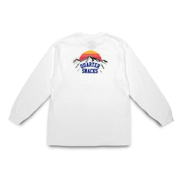 Quartersnacks Mountain Long Sleeve T-Shirt - White