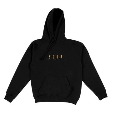 Sour Solution - Army Embroidered Hoodie - Black