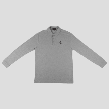 """PASS~PORT """"FULL TIME"""" L/S POLO HTHR"""